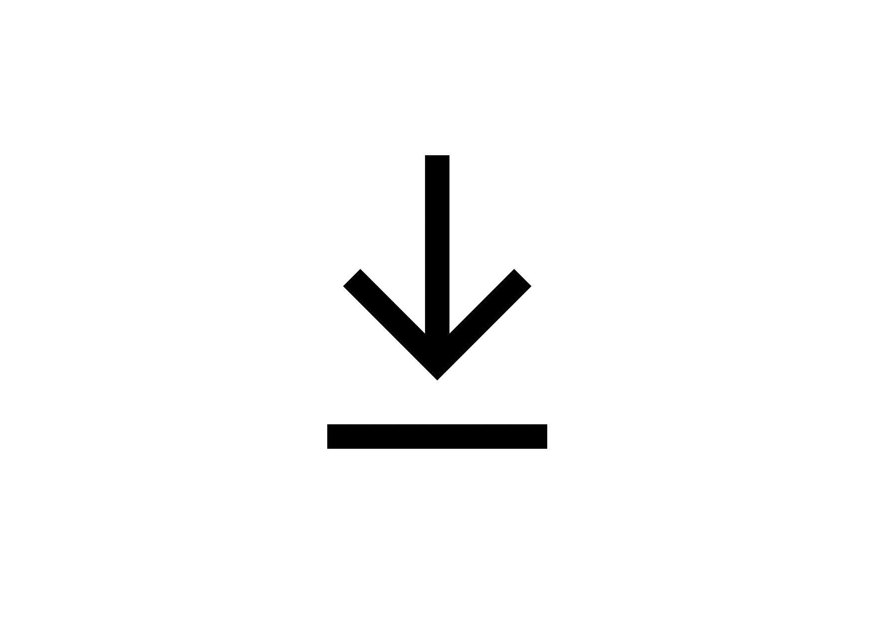 A download symbol