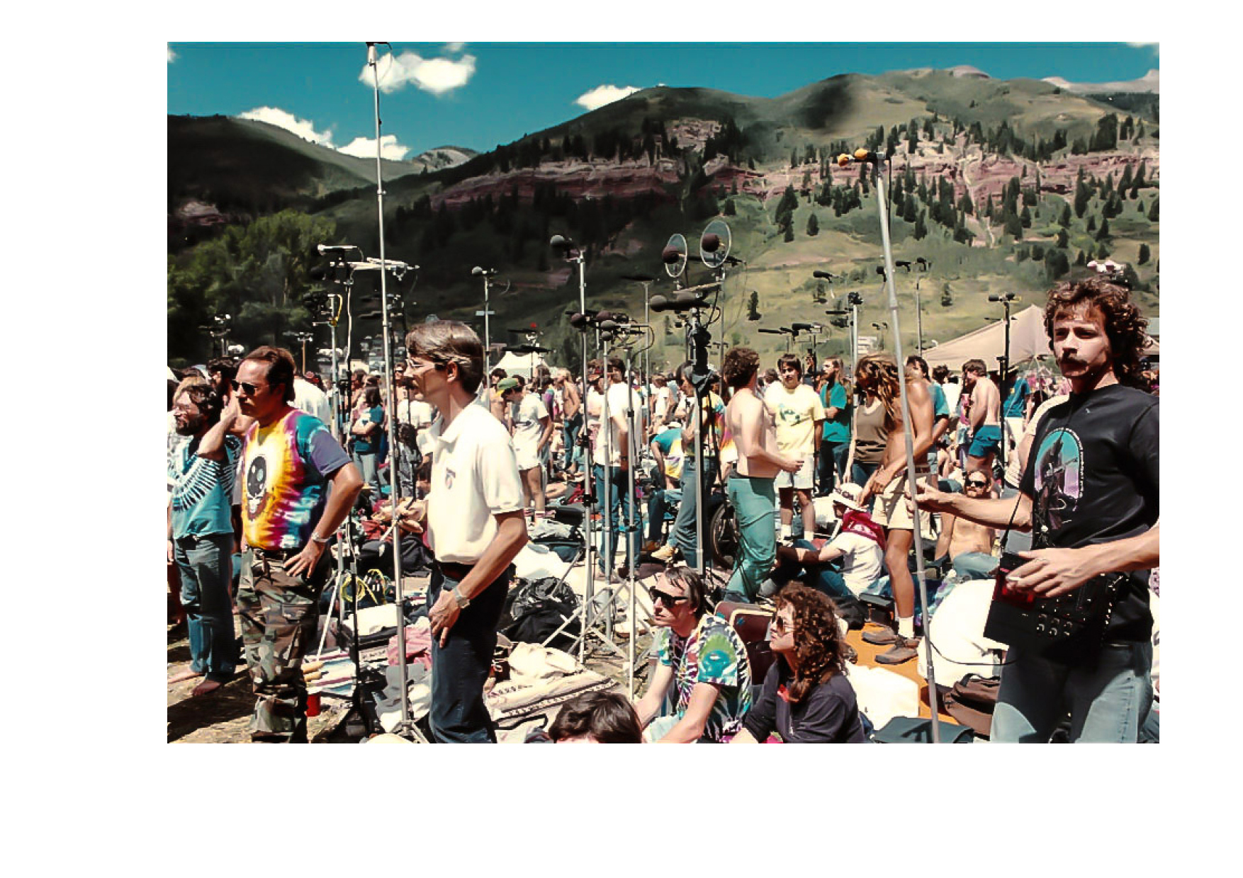 """Deadheads"" recording a live Grateful Dead concert, 1972"